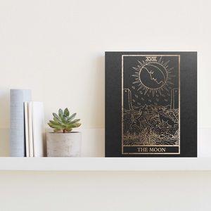 Handmade Gold Foiled The Moon Tarot Print